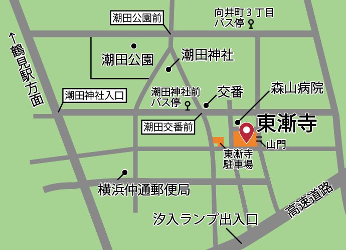 東漸寺周辺地図